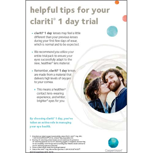 clariti 1 day Trial Information Sheet
