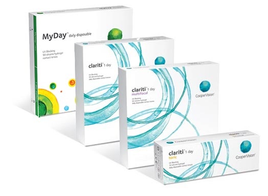 CooperVision's portfolio of silicone hydrogel 1-day contact lenses